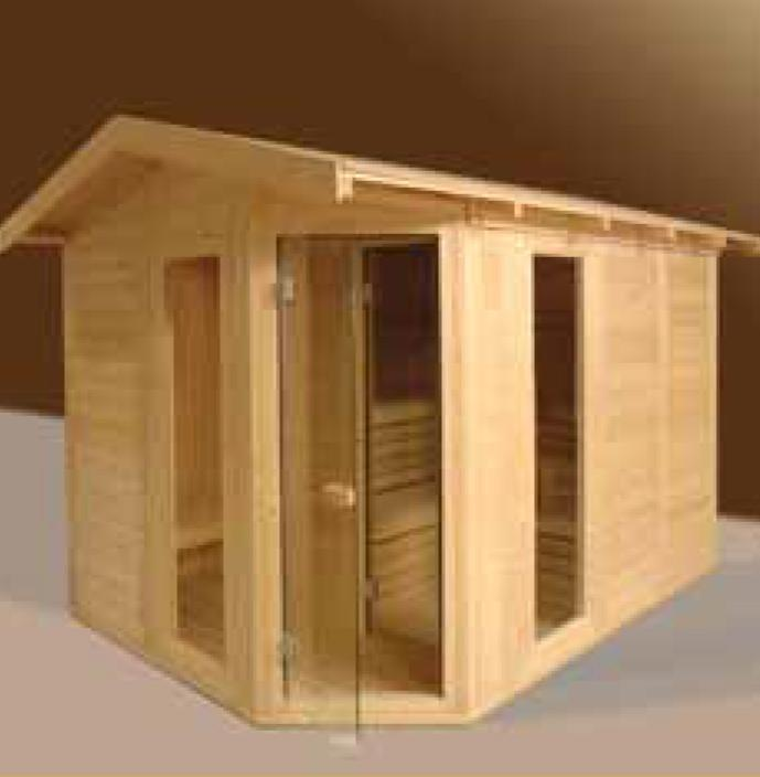 Sauna Massive Outdoor 200x200x220